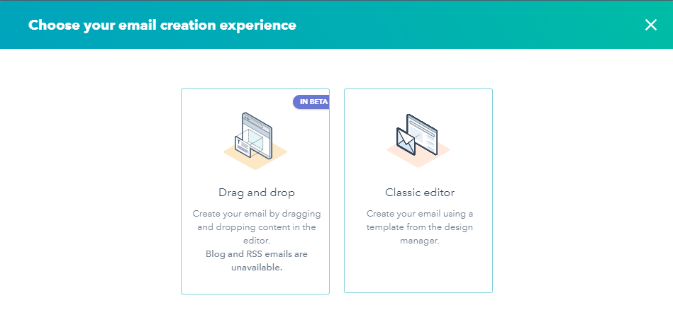Bureau Vet - marketing automation- email marketing - email opzetten in Hubspot - de opties