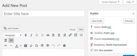 Wordpress huidige editor